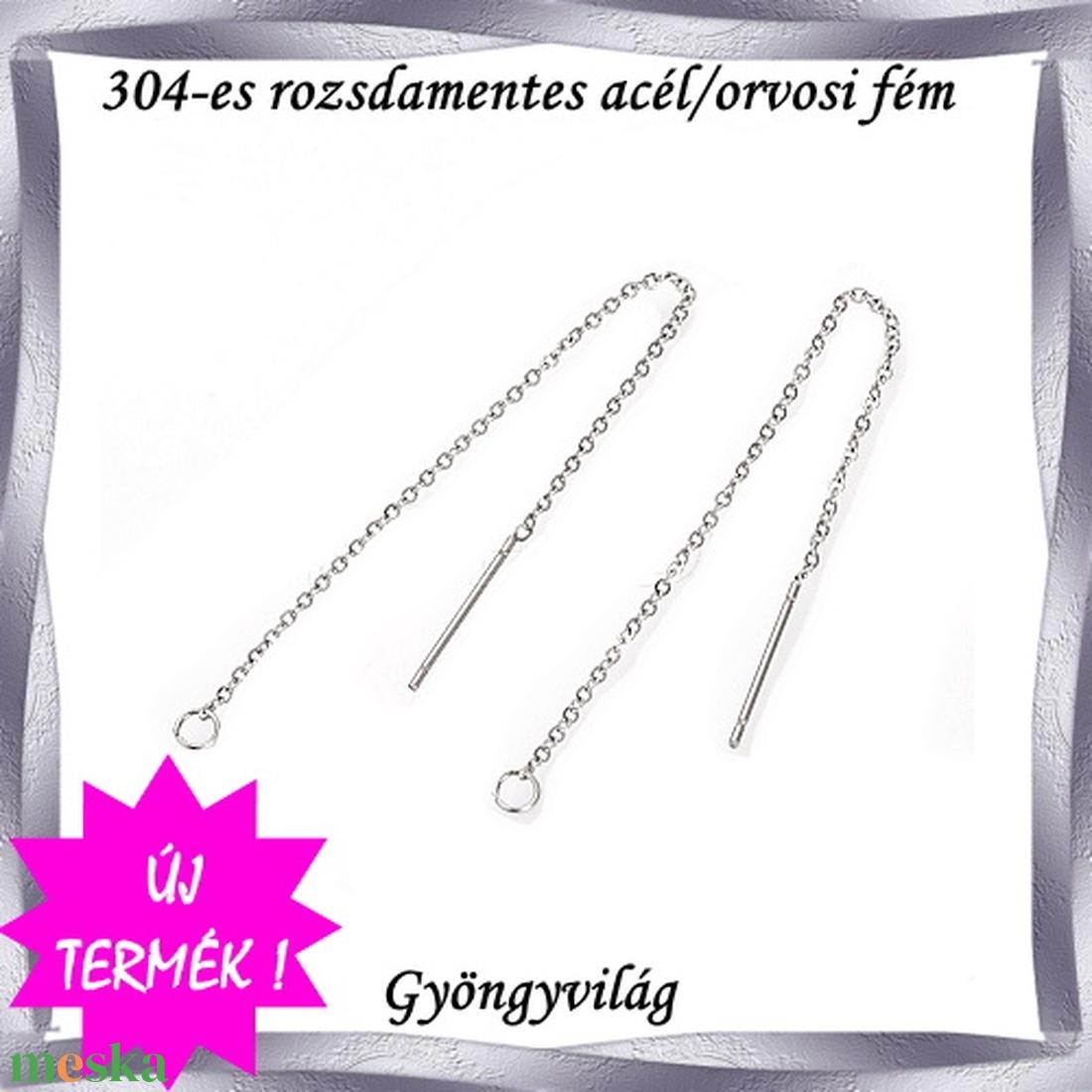 Nemes acél ékszerkellék: fülbevaló alap NAFK 04-95  1pár/cs - gyöngy, ékszerkellék - egyéb alkatrész - Meska.hu