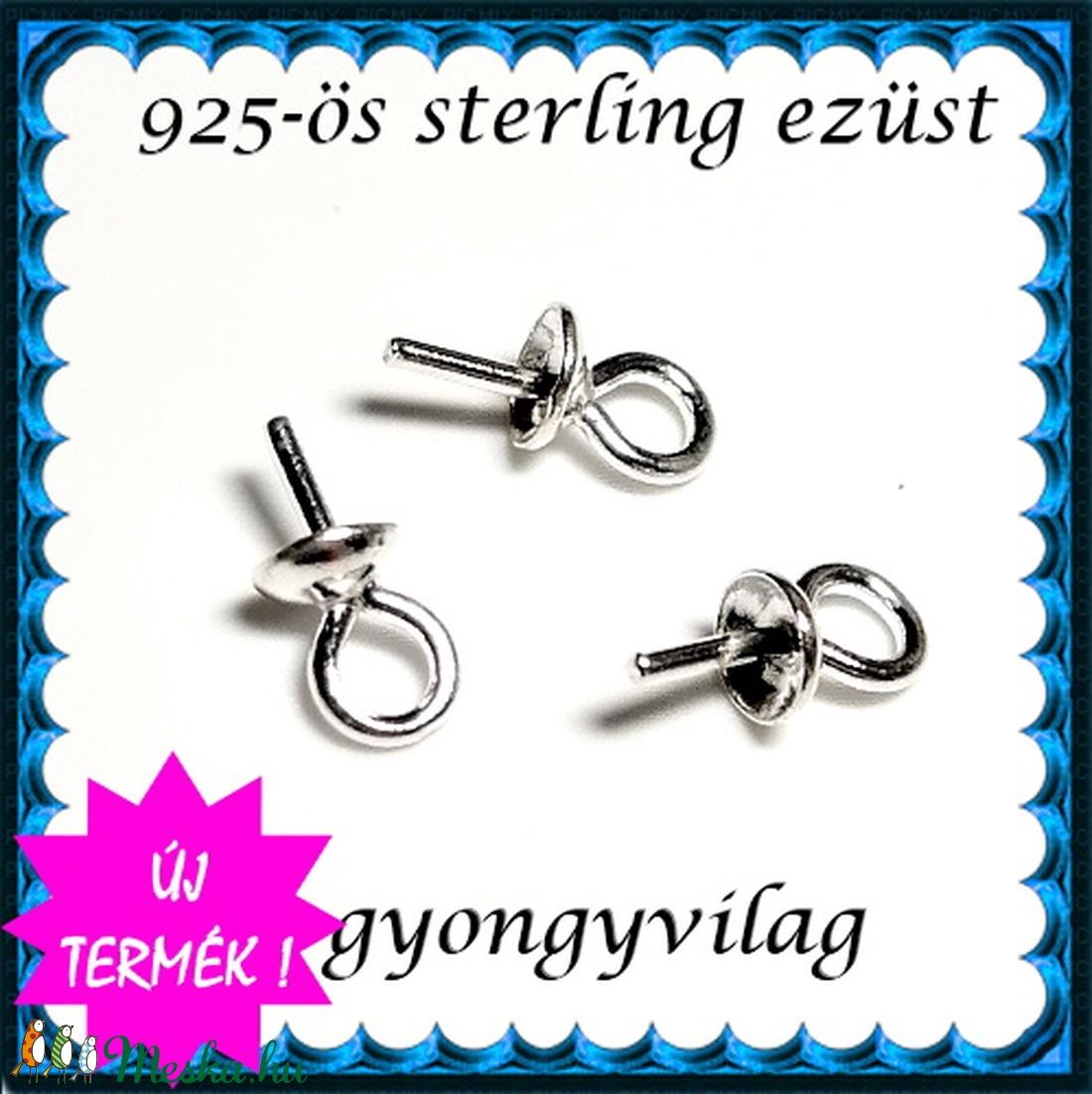 925-ös ezüst medálkapocs EMK 07-3  - gyöngy, ékszerkellék - egyéb alkatrész - Meska.hu