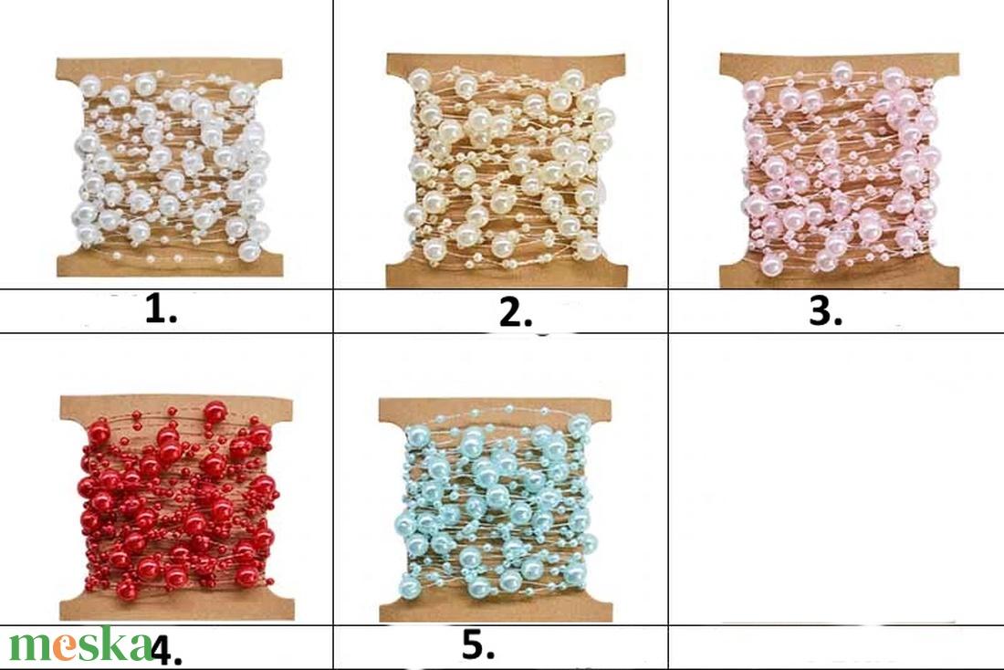 Ékszerkellék: akril gyöngy/füzér, GYA F 3-8 több színben 2m/csomag - Meska.hu