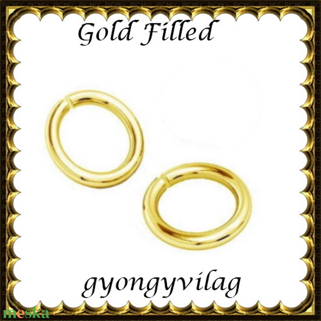 925-ös ezüst karika ESZK NY gold filled 5x0,8  2db/csomag - gyöngy, ékszerkellék - egyéb alkatrész - Meska.hu