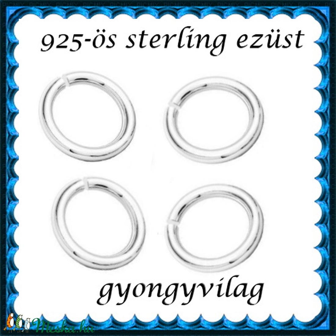925-ös ezüst szerelőkarika nyitott ESZK NY 4  x 0,7 mm-es   4db/csomag - gyöngy, ékszerkellék - egyéb alkatrész - Meska.hu
