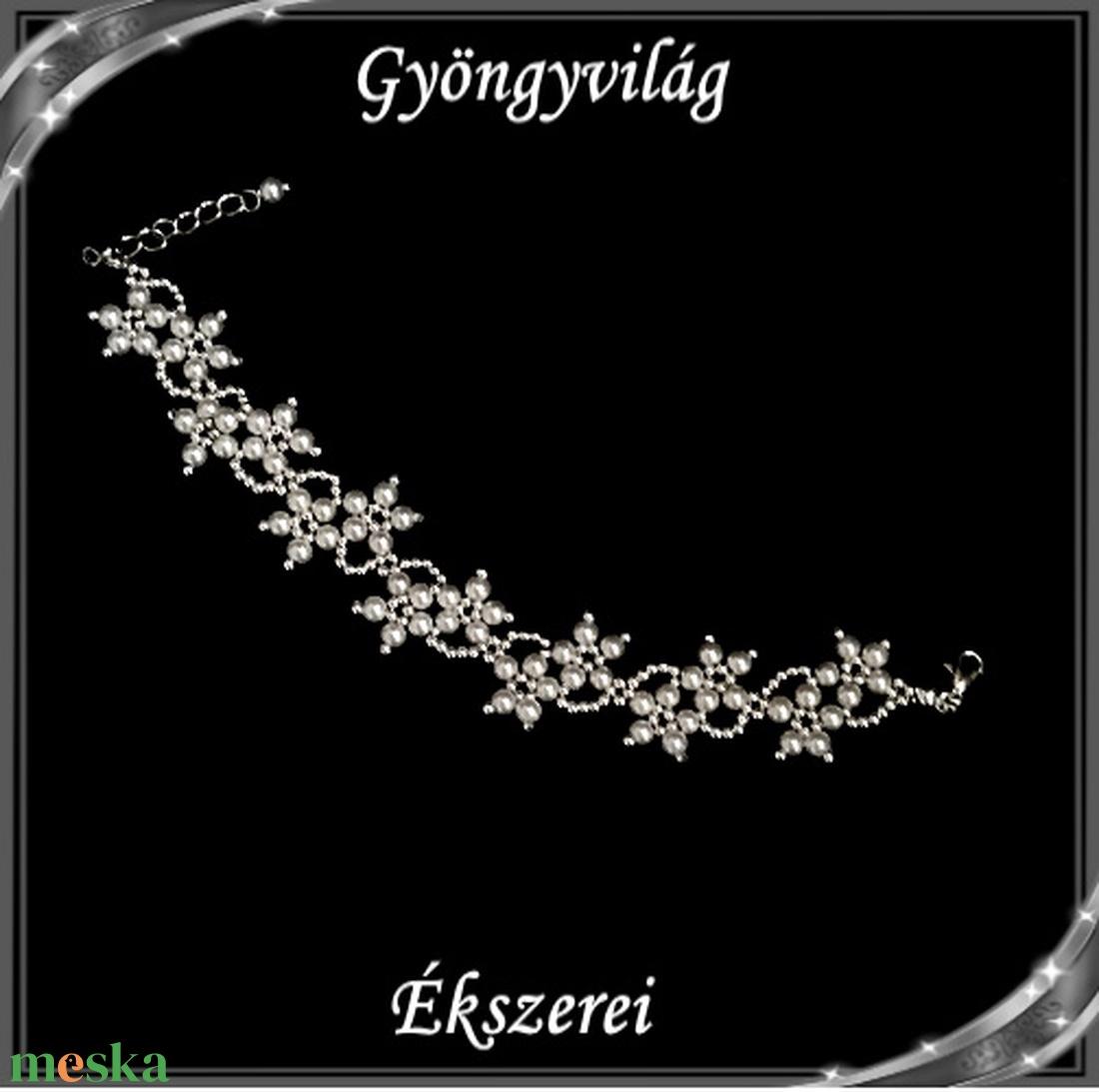 Esküvői, menyasszonyi, alkalmi ékszer szett,  SSZEB-GY01 fehér - esküvő - ékszer - ékszerszett - Meska.hu