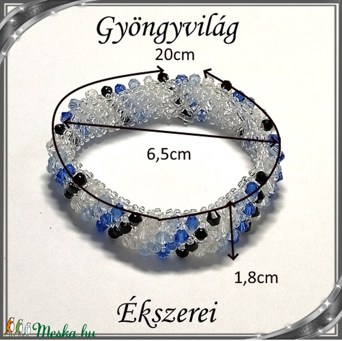 Capriccho 4 soros fűzött kristály gyöngy karkötő SKCA-K4-03  - ékszer - karkötő - gyöngyös karkötő - Meska.hu