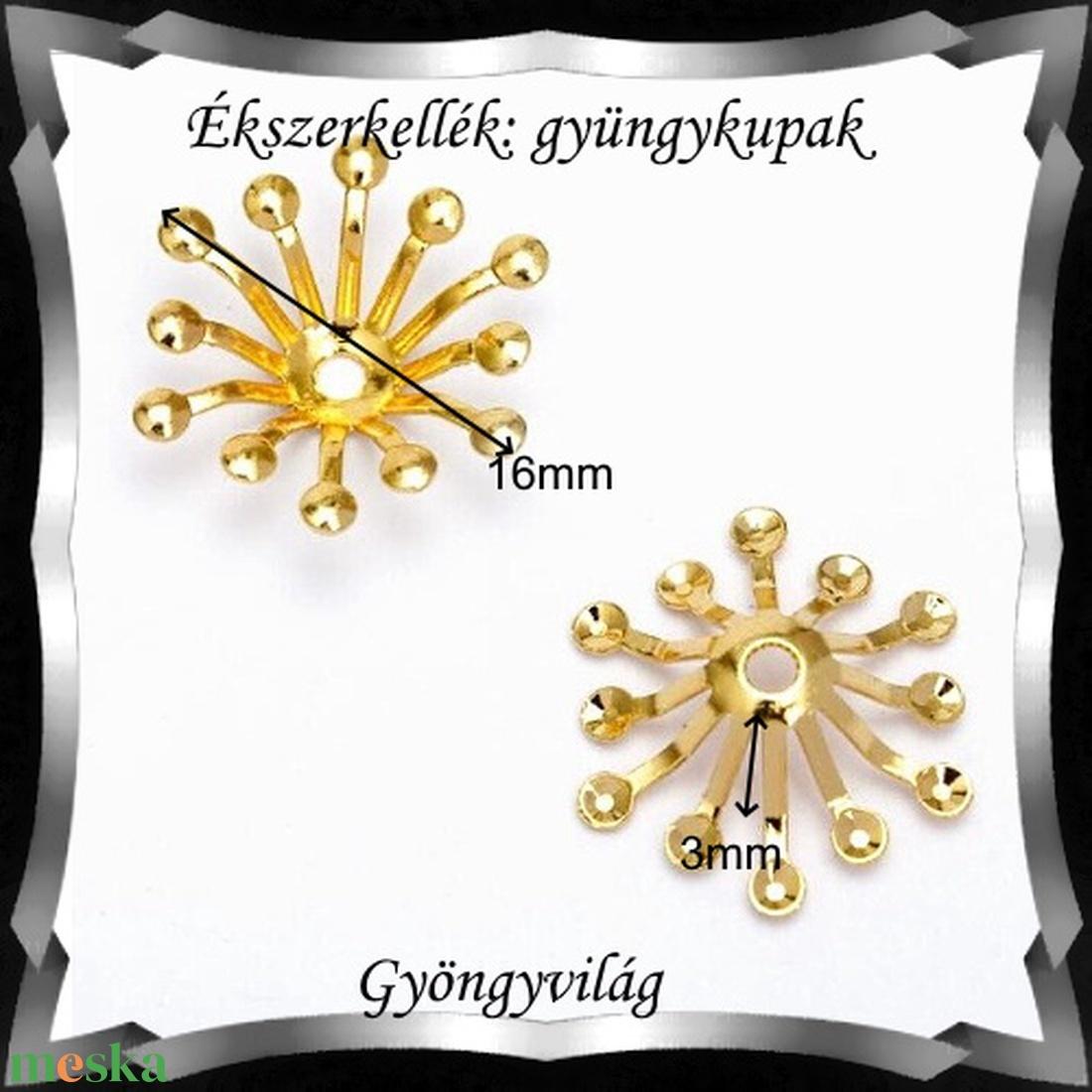 Ékszerkellék: gyöngykupak BGYK 32a 20db / csomag - gyöngy, ékszerkellék - fém köztesek - Meska.hu