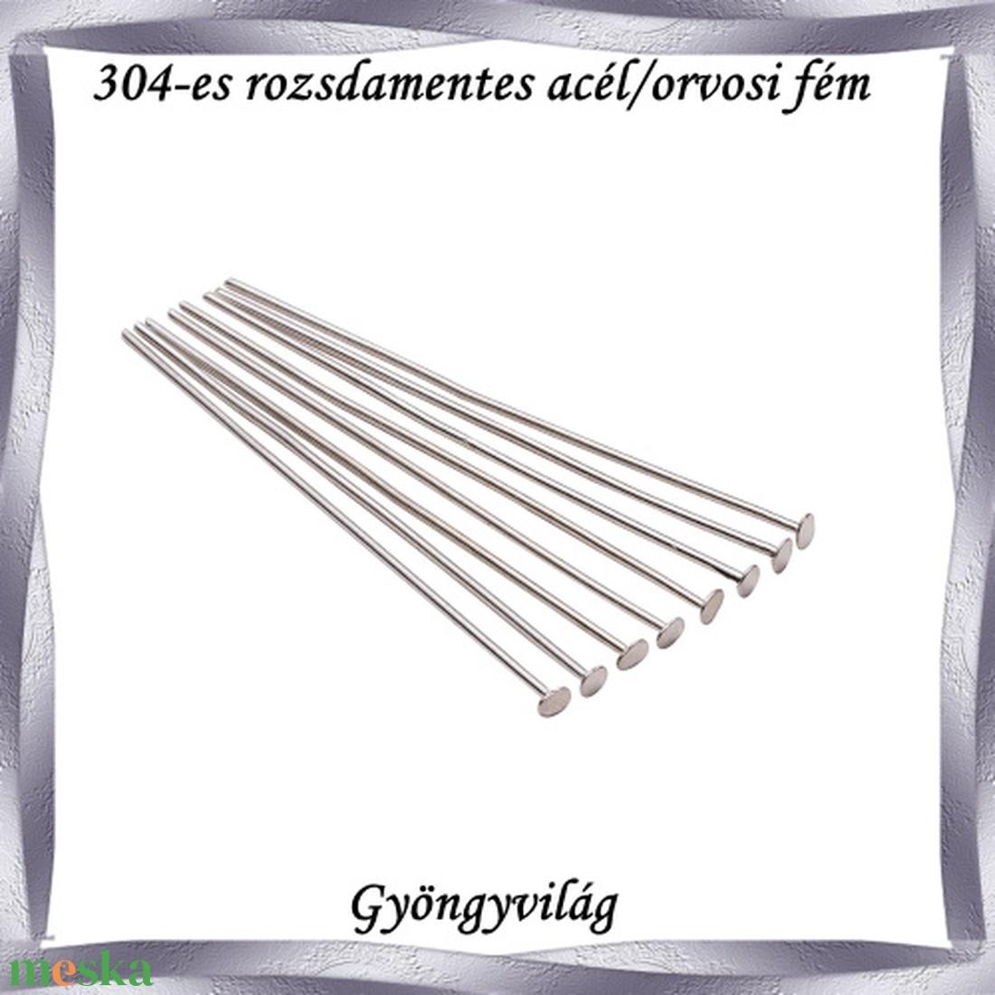 304 Nemes acél ékszerkellék: szerelőpálca NASZP SZ 70x0,7 5db/csomag - Meska.hu