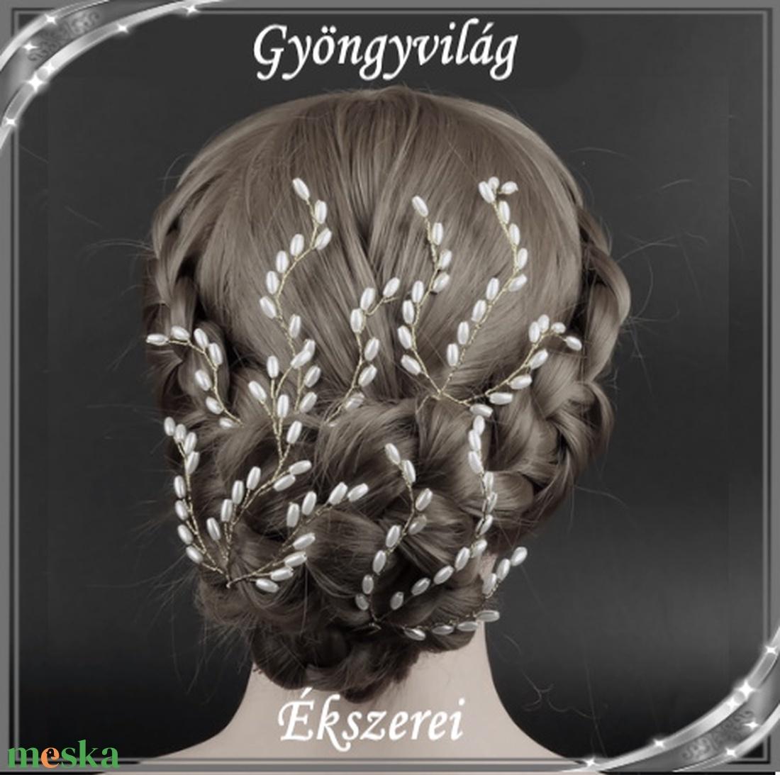 Ékszerek-hajdíszek, hajcsatok: Esküvői, menyasszonyi, alkalmi hajdísz S-H-TŰ14e fehér szett(4db) - esküvő - hajdísz - fésűs hajdísz - Meska.hu