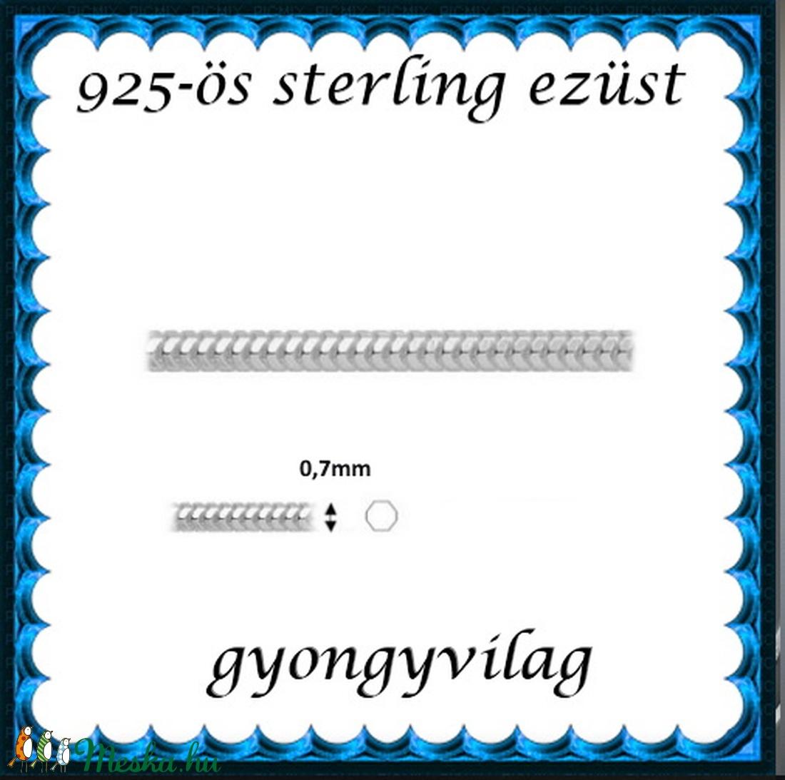 925-ös ezüst lánc méterben 925 EL03-0,7 - gyöngy, ékszerkellék - Meska.hu