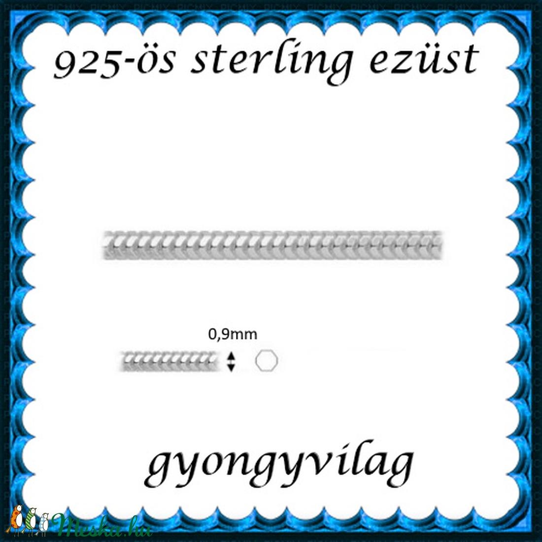 925-ös ezüst lánc méterben 925 EL03-0,9 - gyöngy, ékszerkellék - Meska.hu