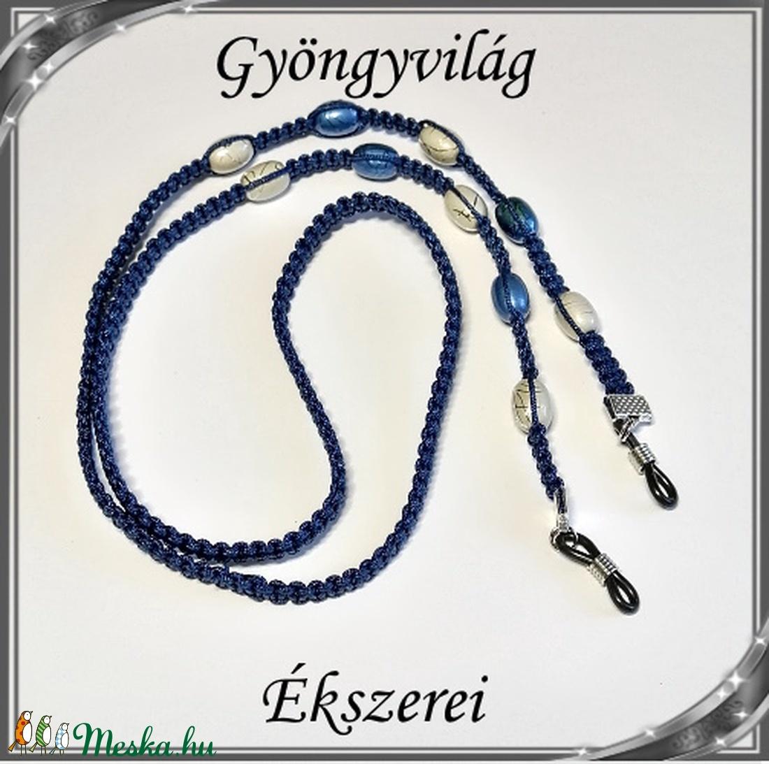Szemüveglánc  SSZL 03-1 - ékszer - nyaklánc - gyöngyös nyaklác - Meska.hu