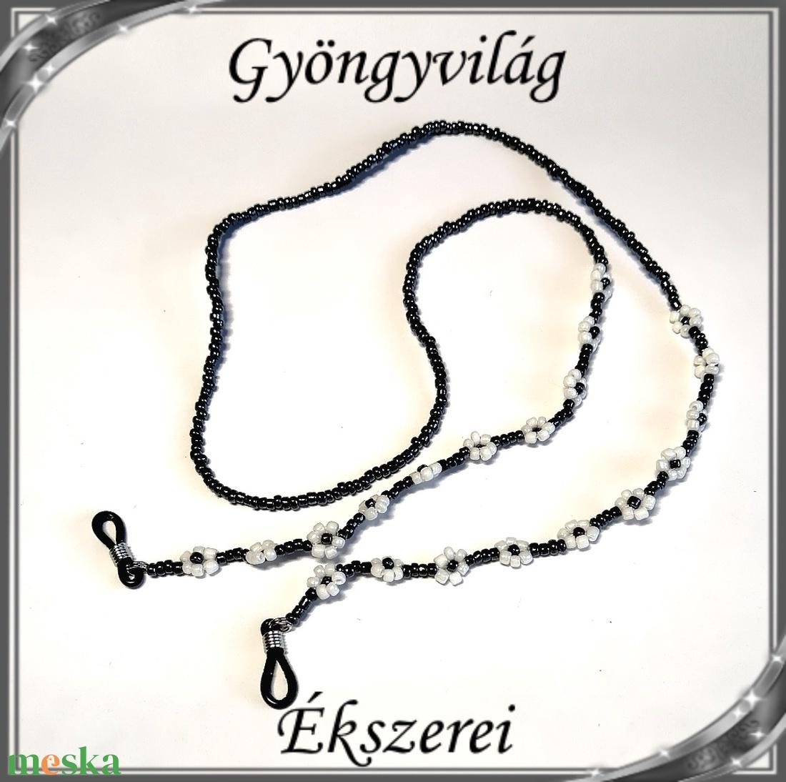 Szemüveglánc  SSZL 04-1 - ékszer - nyaklánc - gyöngyös nyaklác - Meska.hu