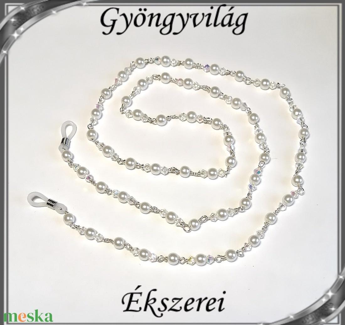 Szemüveglánc  SSZL 05-2 - ékszer - nyaklánc - gyöngyös nyaklác - Meska.hu