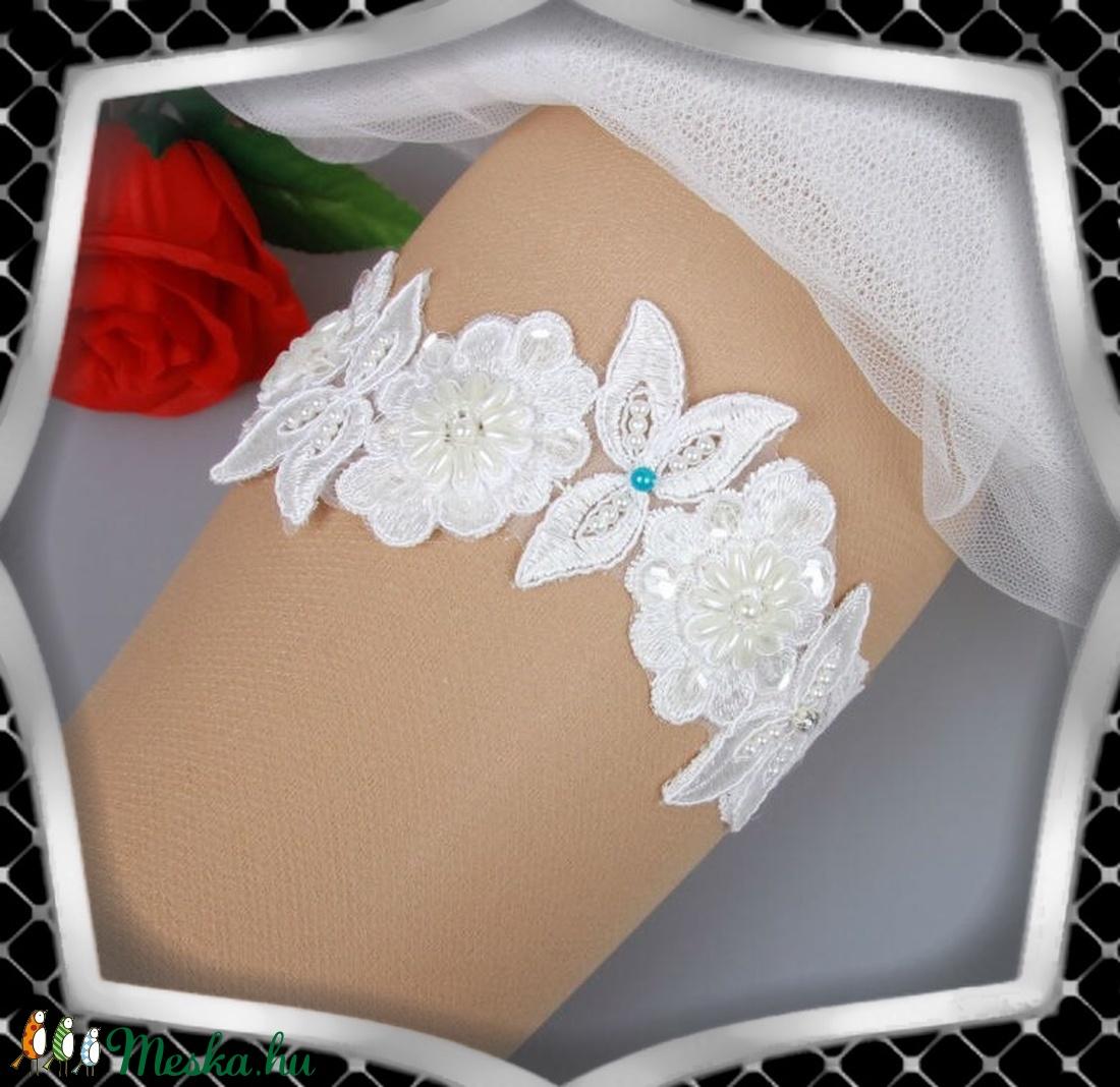 Esküvői, menyasszonyi harisnyakötő  ES-HK22 - Meska.hu