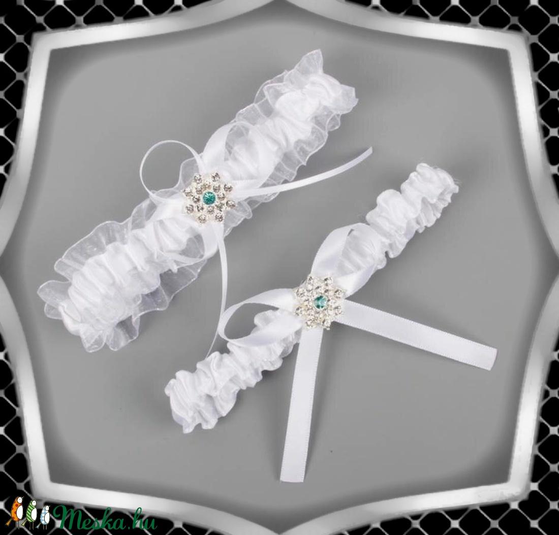Esküvői, menyasszonyi harisnyakötő szett  ES-HK24 F - Meska.hu