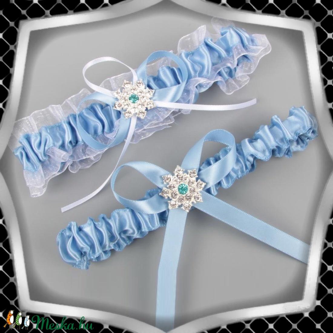Esküvői, menyasszonyi harisnyakötő szett  ES-HK24 K - Meska.hu