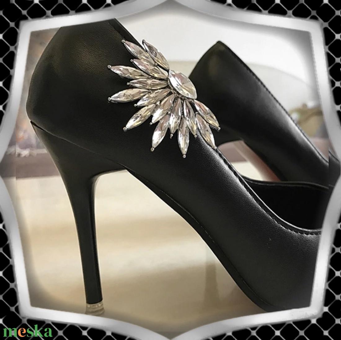 Esküvői, menyasszonyi, alkalmi cipődísz, cipőklipsz ES-CK04 - esküvő - cipő és cipőklipsz - Meska.hu