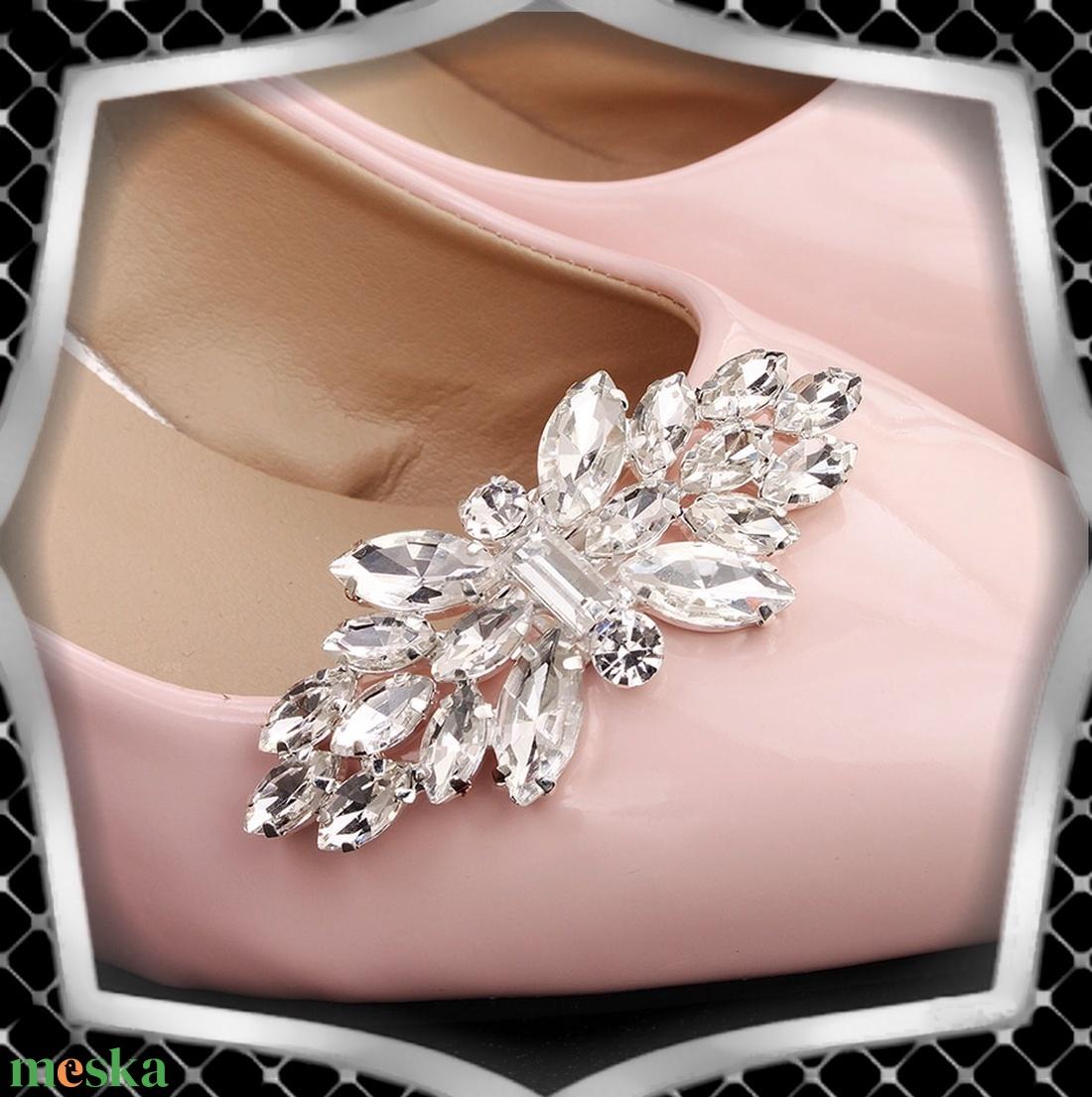 Esküvői, menyasszonyi, alkalmi cipődísz, cipőklipsz ES-CK02 - esküvő - cipő és cipőklipsz - Meska.hu