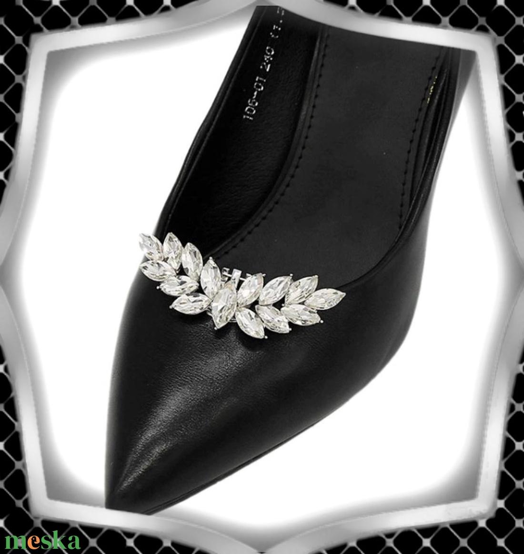 Esküvői, menyasszonyi, alkalmi cipődísz, cipőklipsz ES-CK10 - esküvő - cipő és cipőklipsz - Meska.hu
