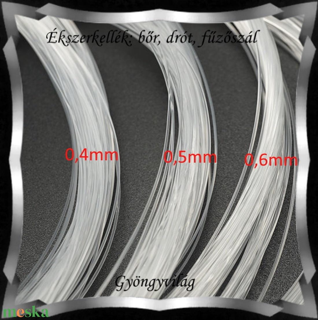 Ékszerkellék: drót, damil, fűzőszál. Merev damil FSZ06-1 több méretben - gyöngy, ékszerkellék - egyéb alkatrész - Meska.hu