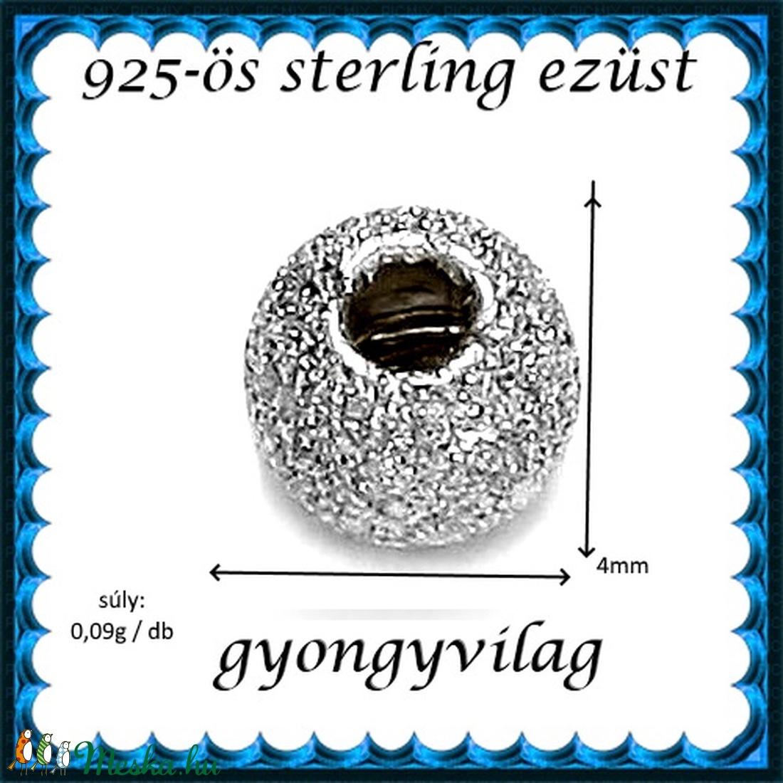 925-ös sterling ezüst ékszerkellék: köztes/gyöngy/díszitőelem EKÖ 34-4r 2db/csomag - gyöngy, ékszerkellék - fém köztesek - Meska.hu