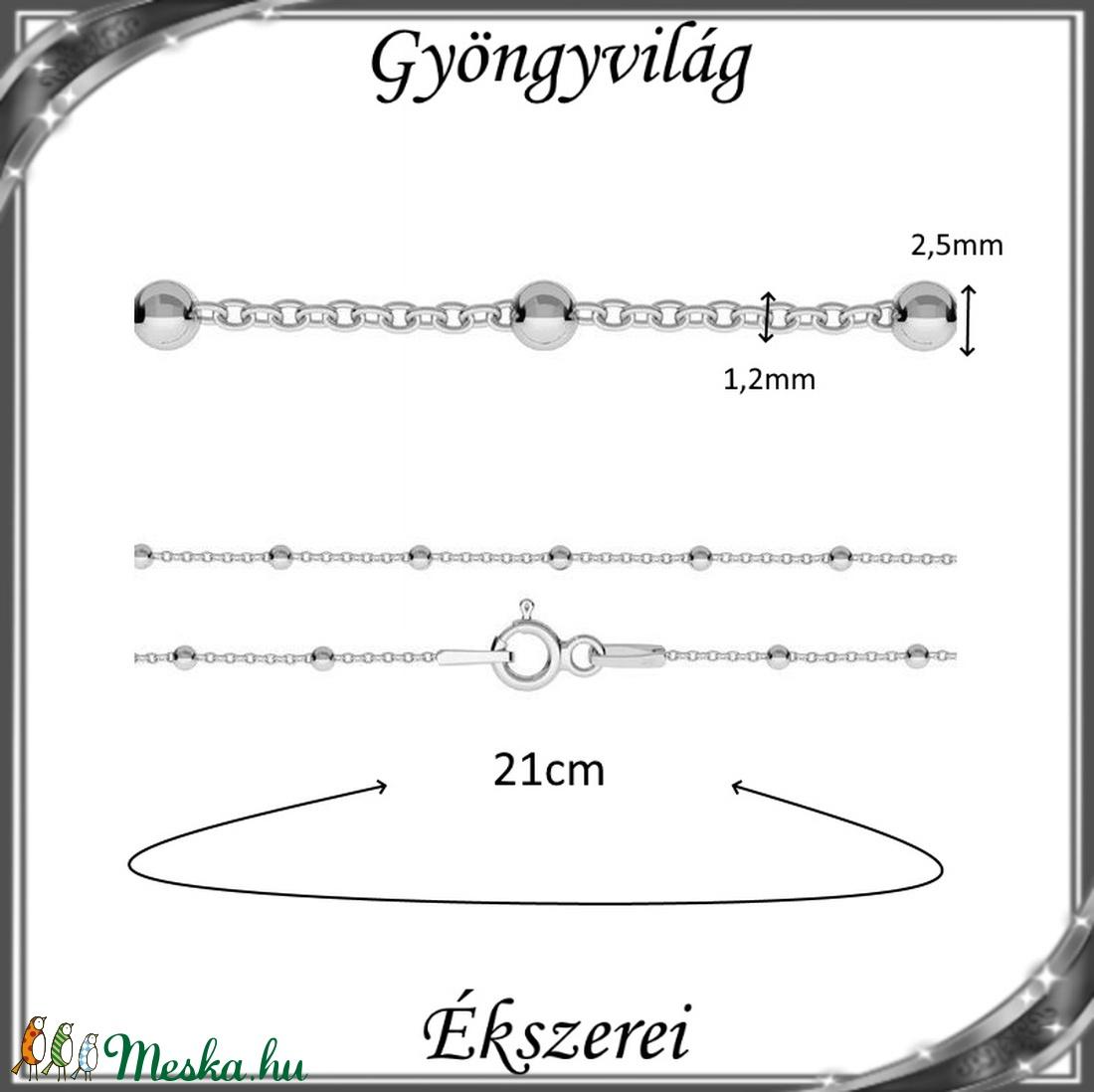 Ékszerek-karkötők: 925-ös sterling ezüst karkötő SSZ EÜK 08-21e - ékszer - nyaklánc - medál nélküli nyaklánc - Meska.hu