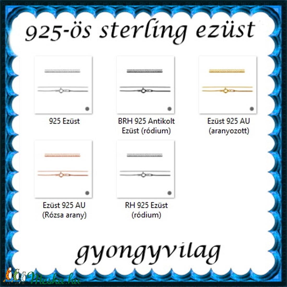 Ékszerek-karkötők: 925-ös sterling ezüst karkötő SSZ EÜK 10-20e - ékszer - nyaklánc - medál nélküli nyaklánc - Meska.hu