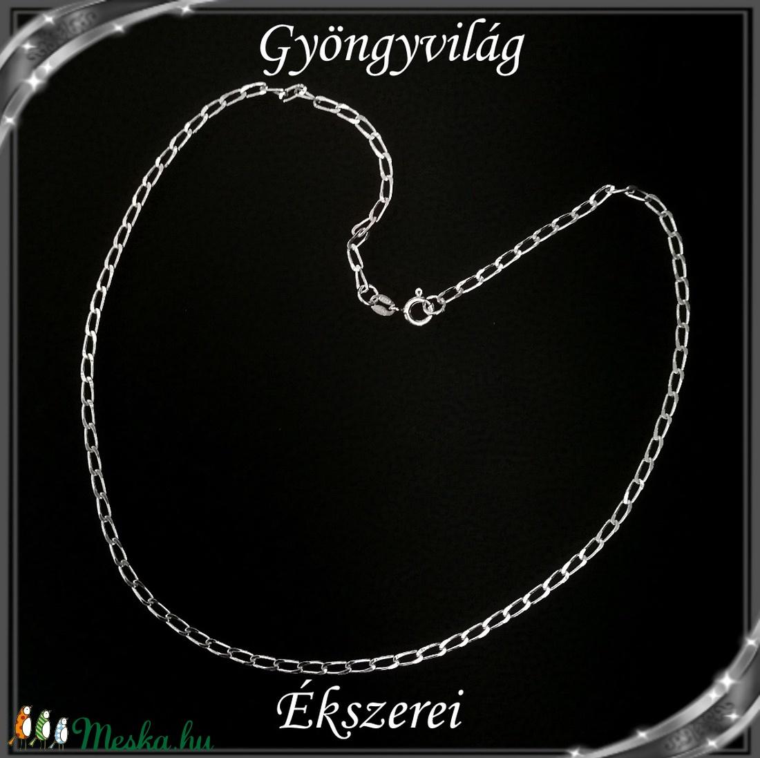 Ékszerek-nyakláncok: 925-ös sterling ezüst lánc SSZ EÜL 11-42e - ékszer - nyaklánc - medál nélküli nyaklánc - Meska.hu