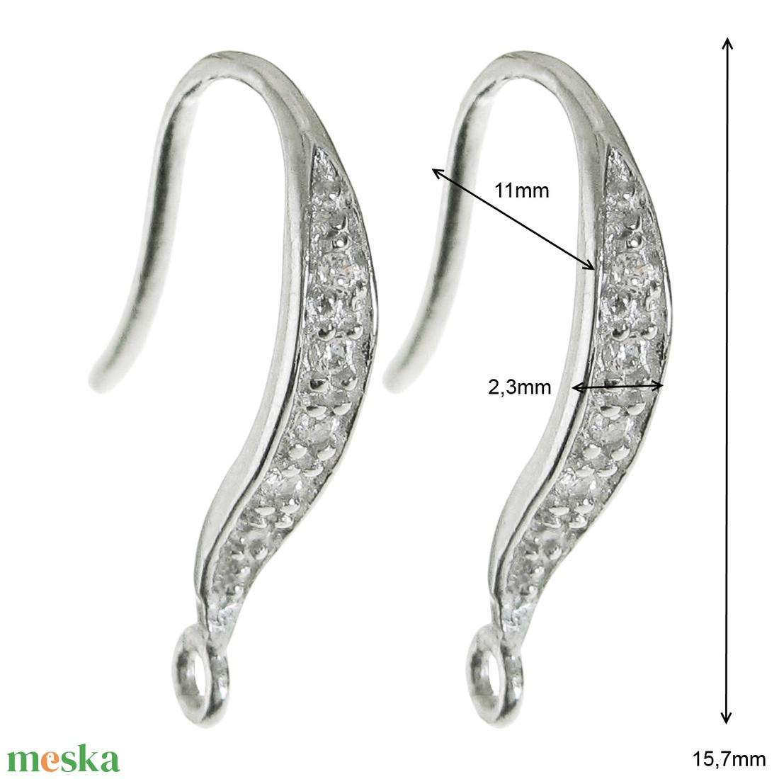 925-ös finomságú sterling  ezüst fülbevaló kapocs EFK A 45/3r - gyöngy, ékszerkellék - egyéb alkatrész - Meska.hu
