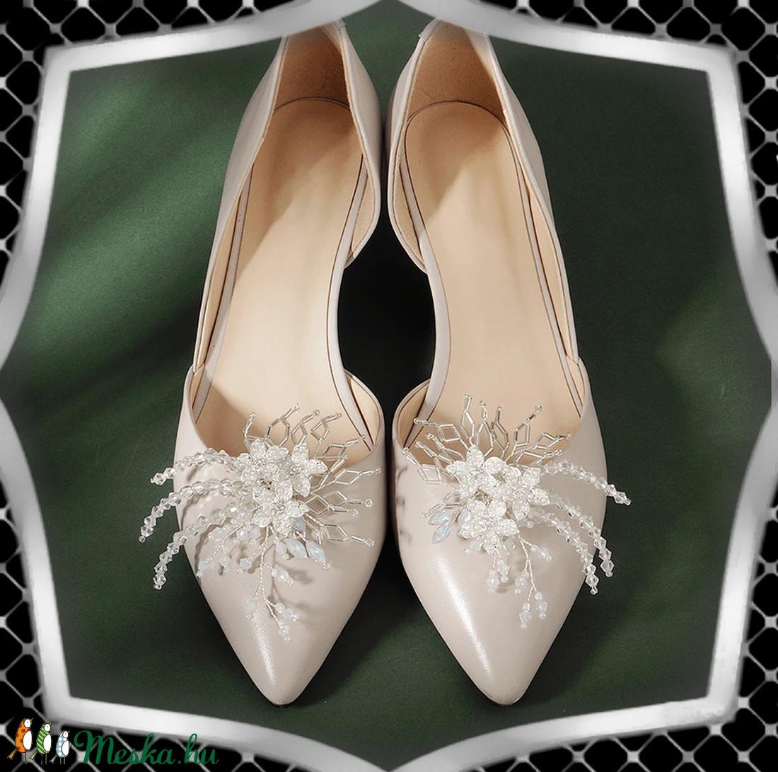 Esküvői, menyasszonyi, alkalmi cipődísz, cipőklipsz ES-CK17 - esküvő - cipő és cipőklipsz - Meska.hu