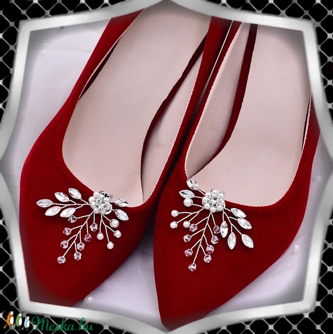 Esküvői, menyasszonyi, alkalmi cipődísz, cipőklipsz ES-CK21 - esküvő - cipő és cipőklipsz - Meska.hu