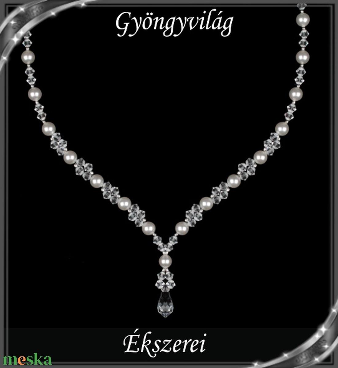 Ékszerek-szettek: Esküvői, menyasszonyi, alkalmi ékszer szett, swarovszki kristály SSZ-ESWF 05-1 - esküvő - ékszer - ékszerszett - Meska.hu