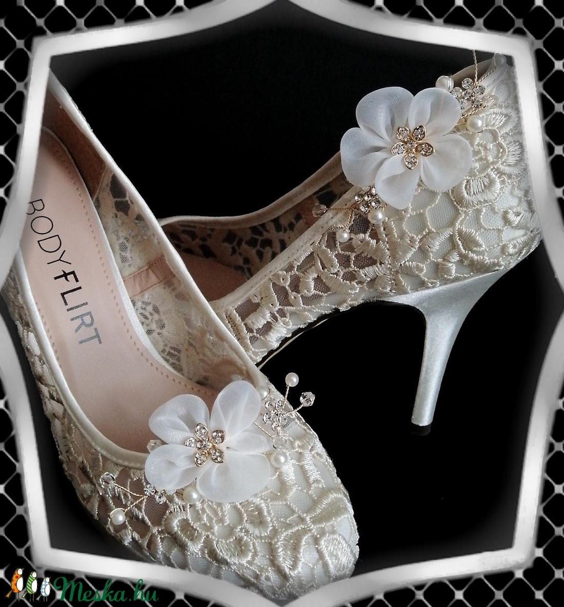 Esküvői, menyasszonyi, alkalmi cipődísz, cipőklipsz ES-CK22 - esküvő - cipő és cipőklipsz - Meska.hu