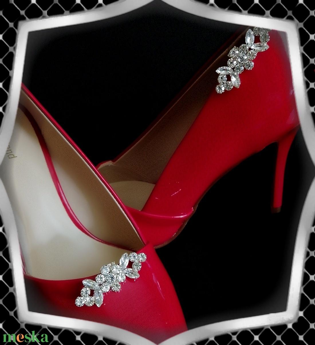 Esküvői, menyasszonyi, alkalmi cipődísz, cipőklipsz ES-CK24 - esküvő - cipő és cipőklipsz - Meska.hu