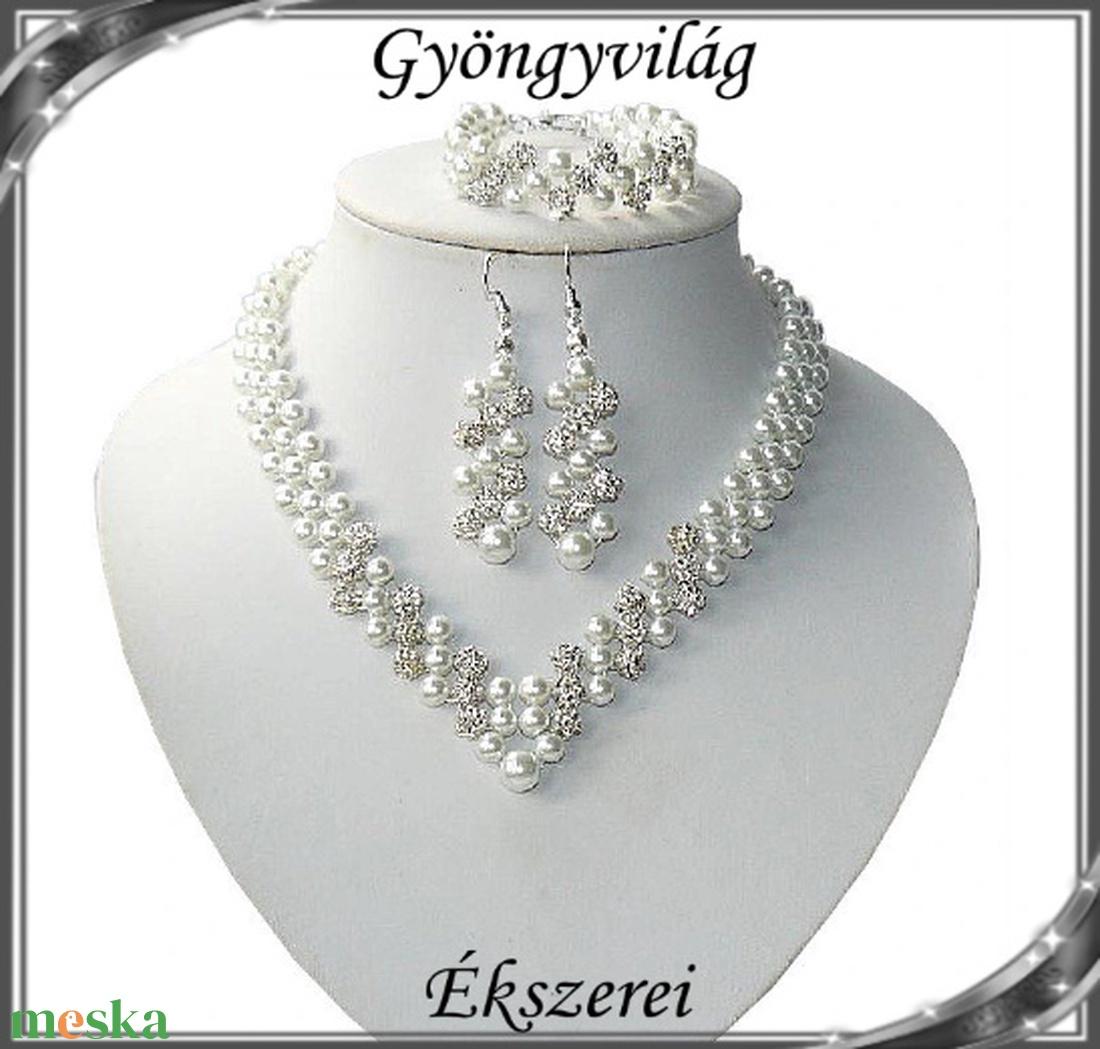 Esküvői, menyasszonyi, alkalmi ékszer szett,  SSZEB-TE07-2 - esküvő - ékszer - ékszerszett - Meska.hu