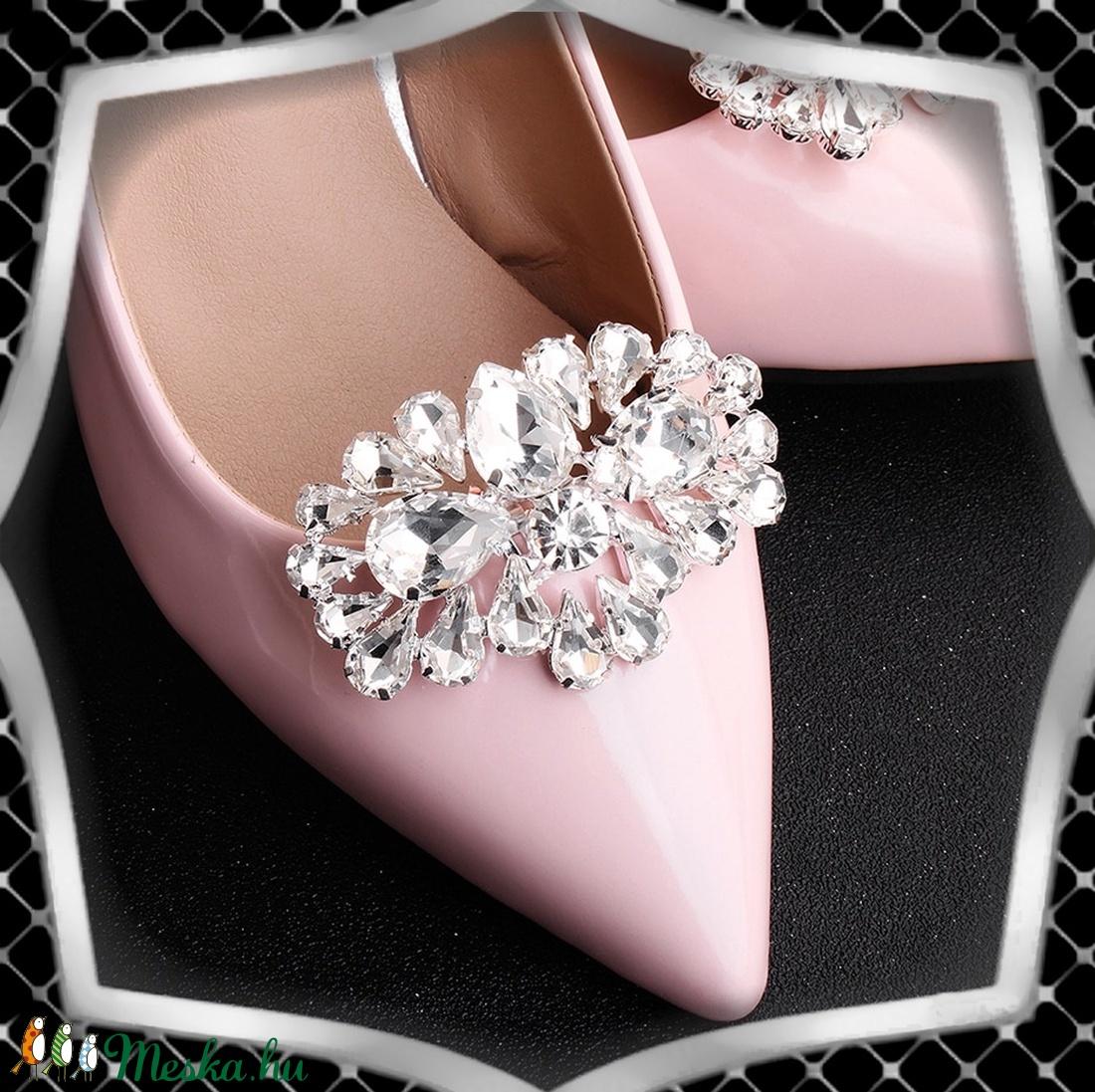 Esküvői, menyasszonyi, alkalmi cipődísz, cipőklipsz ES-CK25 - esküvő - cipő és cipőklipsz - Meska.hu
