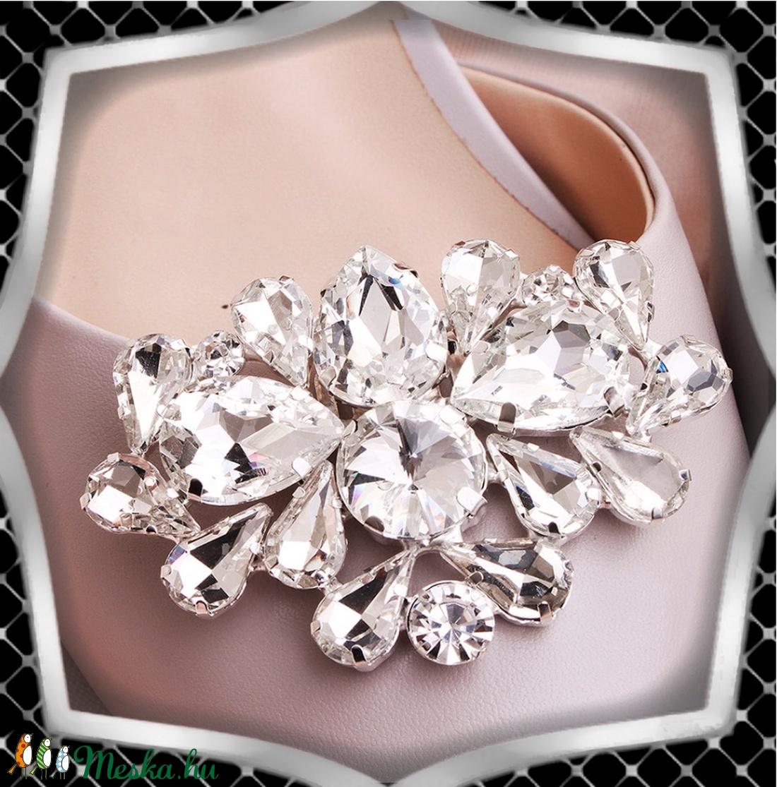 Esküvői, menyasszonyi, alkalmi cipődísz, cipőklipsz ES-CK26 - esküvő - cipő és cipőklipsz - Meska.hu