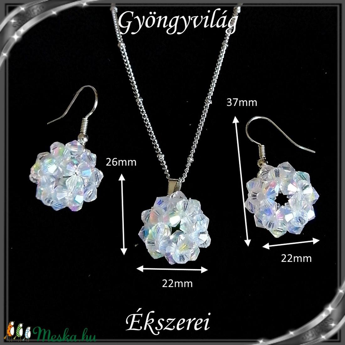 Ékszerek-szettek: kristály ékszer szett SSZNA-KGY01-01 crystal ab - ékszer - ékszerszett - Meska.hu