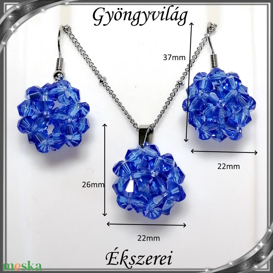 Ékszerek-szettek: kristály ékszer szett SSZNA-KGY01-08 blue - ékszer - ékszerszett - Meska.hu