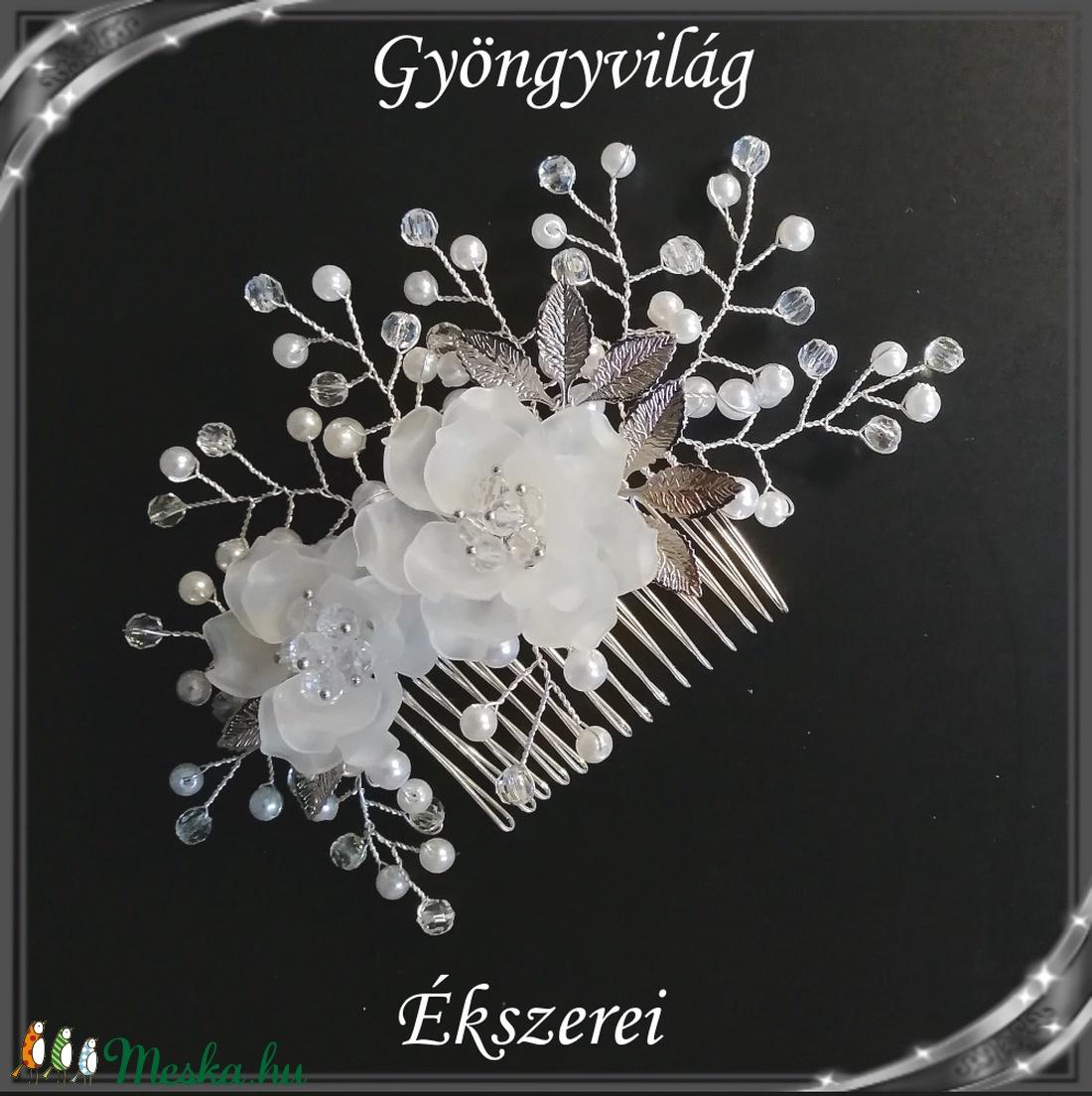 Ékszerek-hajdíszek, hajcsatok: Esküvői, menyasszonyi, alkalmi hajdísz S-H-FÉ15e - esküvő - hajdísz - fésűs hajdísz - Meska.hu