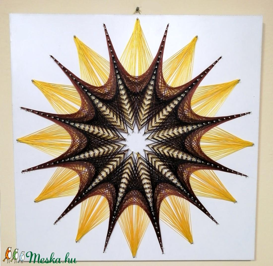 String Art/Fonalgrafika/Mandala: Fali kép K01-01-50X50 - otthon & lakás - dekoráció - Meska.hu
