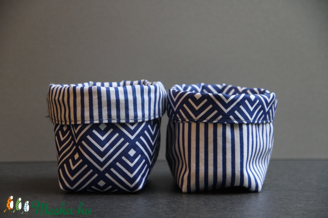 Kifordítható textiltárolók (kék-fehér) (haBEAs) - Meska.hu