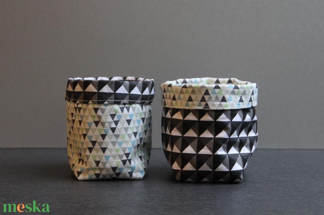 Kifordítható textiltárolók (szürke geometrikus) (haBEAs) - Meska.hu