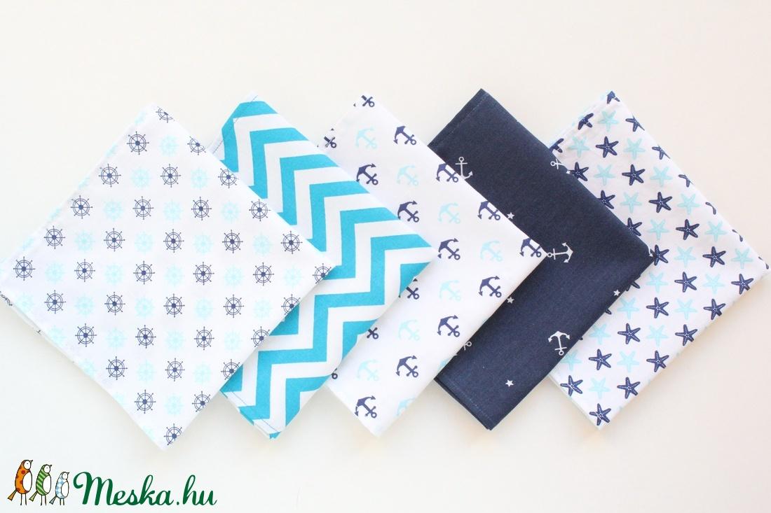 5 textil szalvéta, 100% pamutvászon,