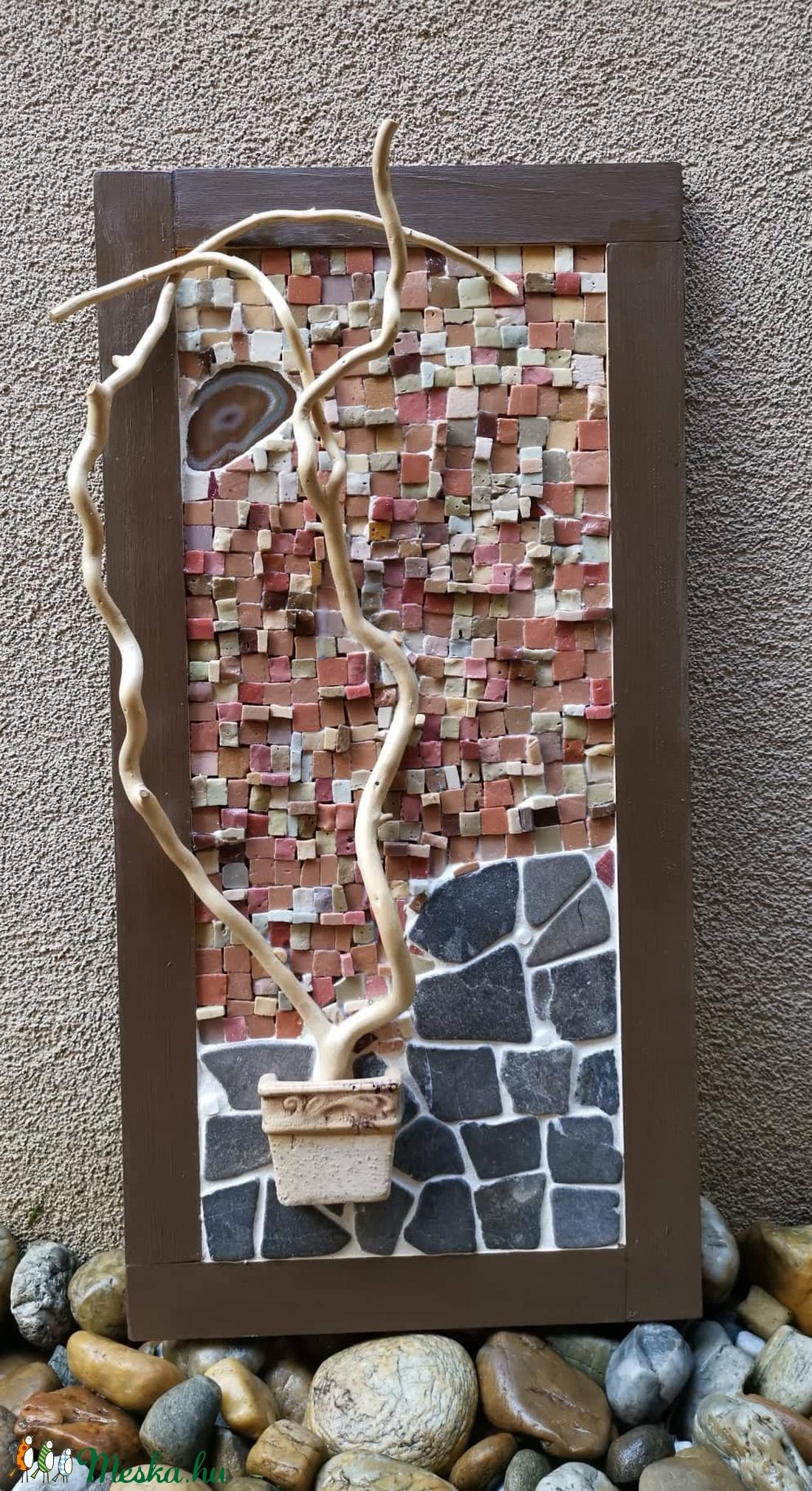 Marsi tájkép - barna térbeli mozaik kép, 3D mozaik falikép dekoráció - otthon & lakás - dekoráció - kép & falikép - Meska.hu
