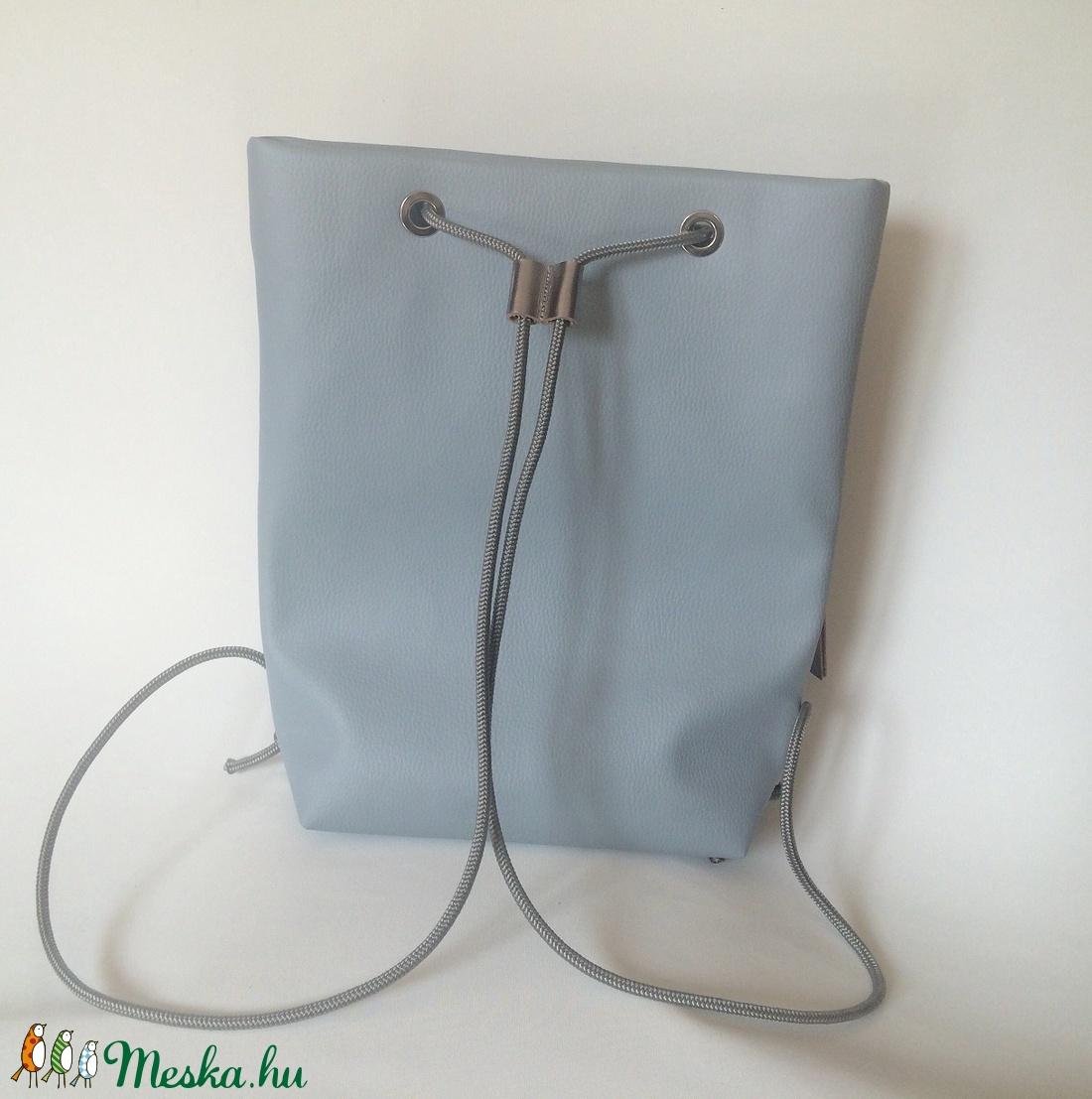 ... TEKLA bag halványkék-ezüst bőr zsebes hátizsák (hegymegigabi) -  Meska.hu ... dc70ff9abb