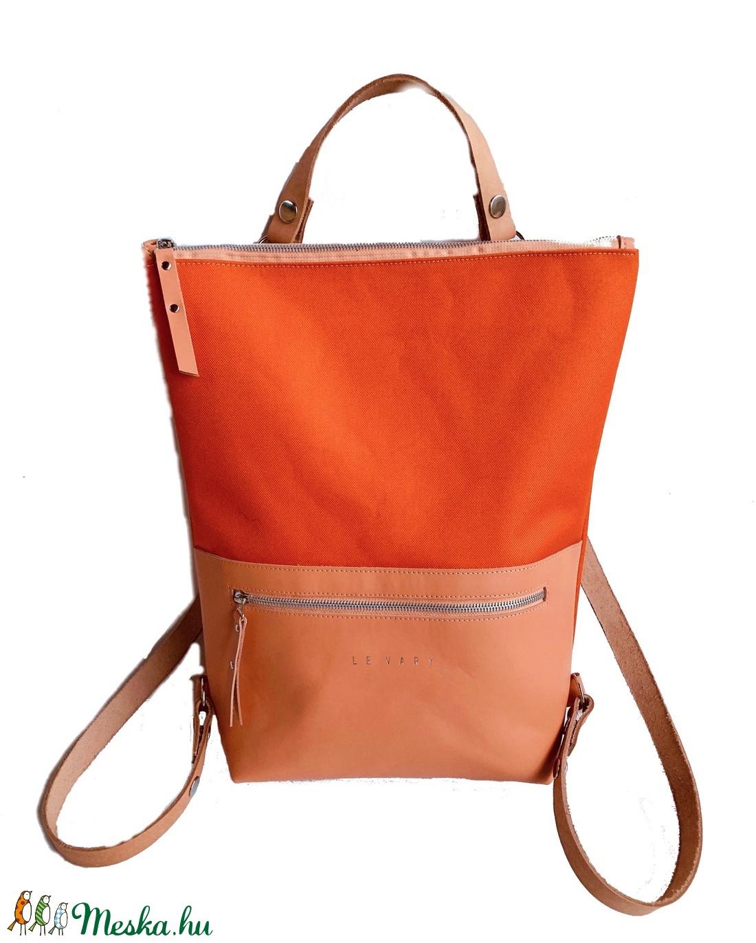 Tekla s bag hátitáska narancs-korall (hegymegigabi) - Meska.hu 412d629a17