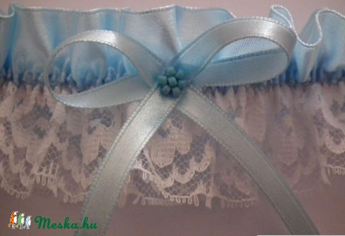 5970c87eb8 ... Kék combcsipke, harisnyakötő menyasszonynak, m-l méret (heidy3) -  Meska.hu