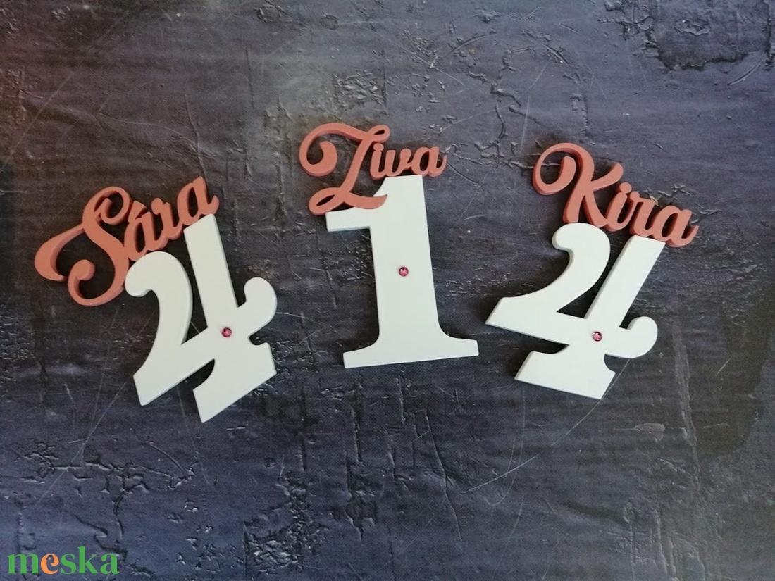 Gyerek születésnapi tortadísz névvel / hűtőmágnes Torta dekoráció születésnapra Szülinapi tortadekoráció - otthon & lakás - konyhafelszerelés - sütidísz - Meska.hu