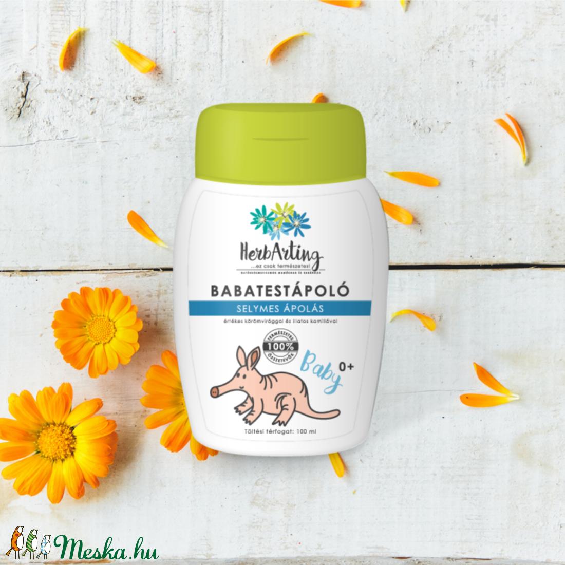 HerbArting körömvirágos baba testápoló 100 ML - Meska.hu