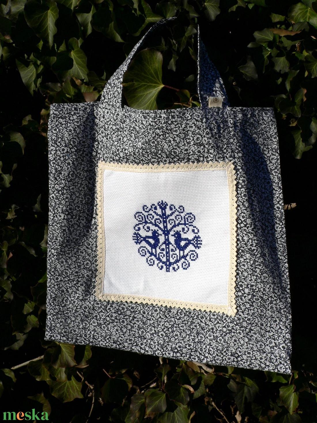 BLUE BIRDIES. Autentikus madárkás shopper. - táska & tok - bevásárlás & shopper táska - shopper, textiltáska, szatyor - Meska.hu