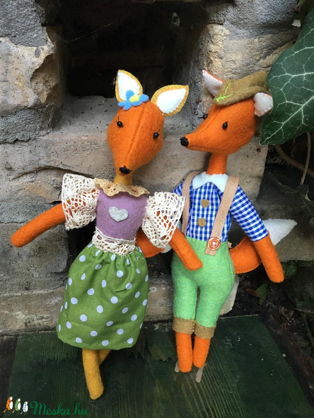 Rókafalvi rókák - gyapjúfilc figurák (babák) mesével - játék & gyerek - plüssállat & játékfigura - róka - Meska.hu